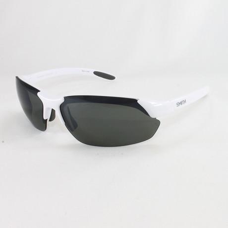 Smith // Men's Polarized Parallel Sunglasses // White