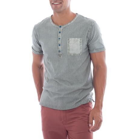 T-Shirt Henley // Moss (S)