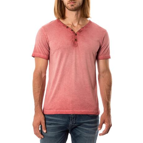 T-Shirt Henley // Red (S)