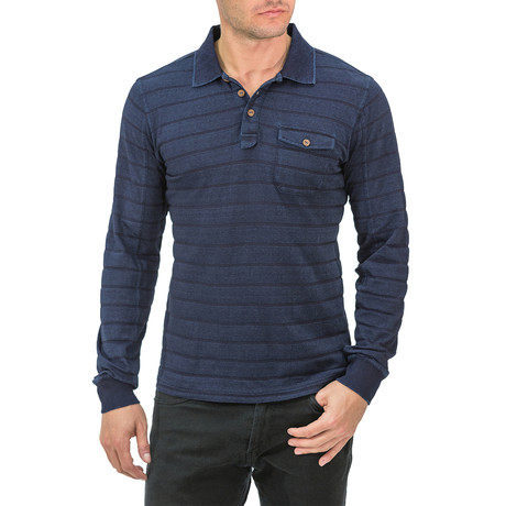 Long Sleeve Rugby Polo // Blue (S)