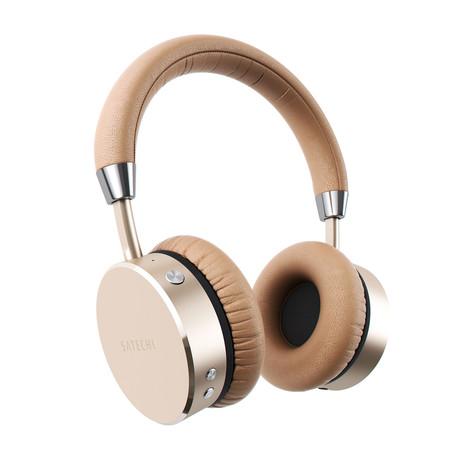 Bluetooth Aluminum Wireless Headphones (Gold)