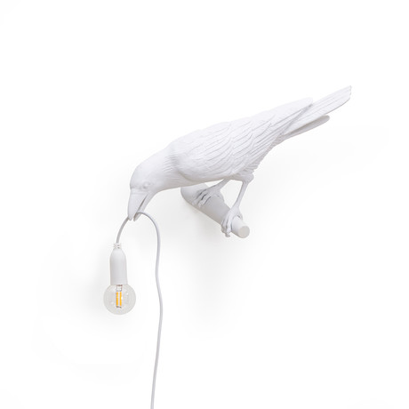Bird Lamp // Outdoor // White // Looking Left