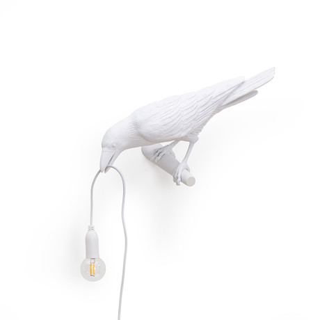 Bird Lamp // White // Hanging