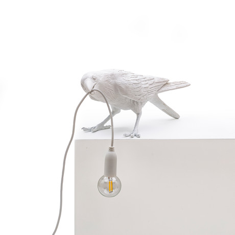 Bird Lamp // Outdoor // White // Playing