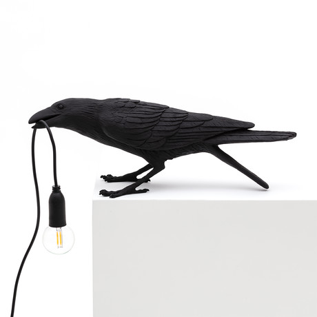 Bird Lamp // Black // Playing