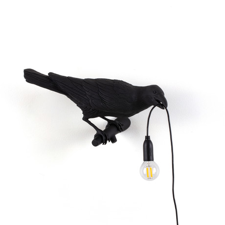 Bird Lamp // Black // Looking Right
