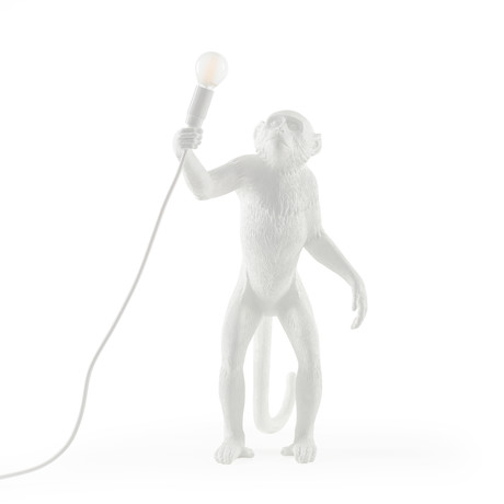 Monkey Lamp // Outdoor // White // Standing