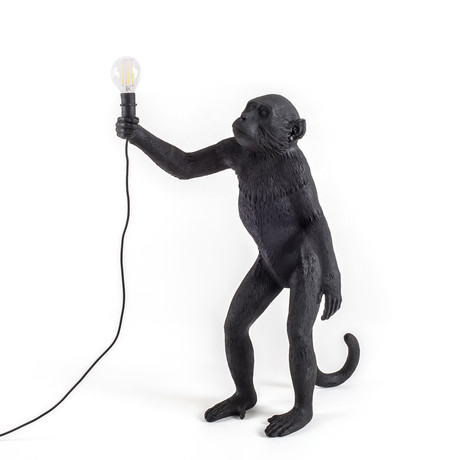 Monkey Lamp // Outdoor // Black // Standing