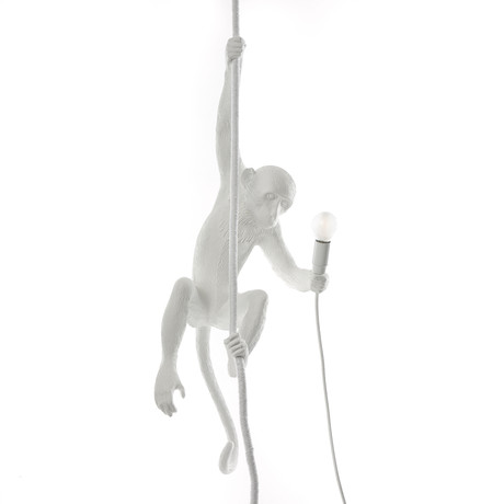 Monkey Lamp // Outdoor // White // With Rope