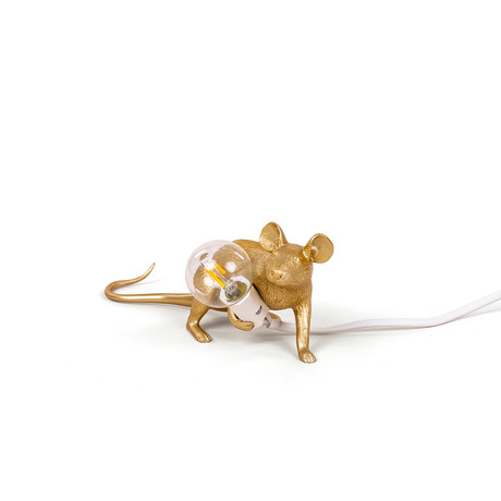 Mouse Lamp // Gold // Lie Down