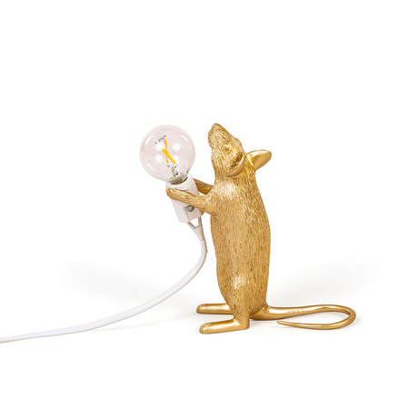 Mouse Lamp // Gold // Standing
