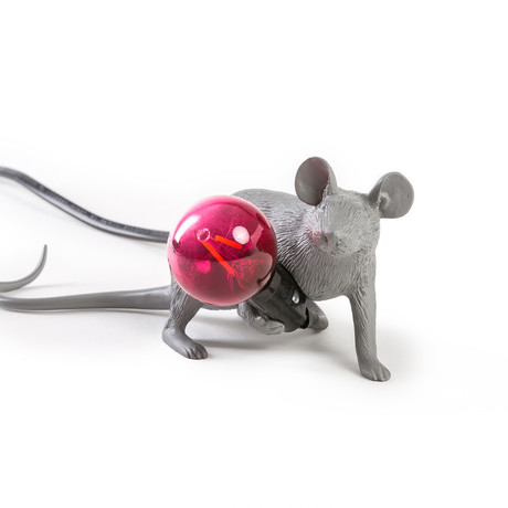 Mouse Lamp // Gray // Lie Down