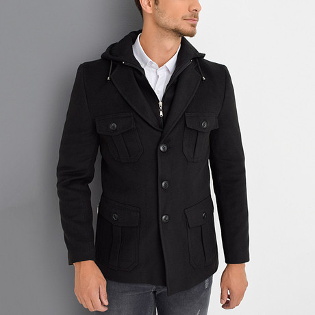 Berlin Overcoat // Black (Small)