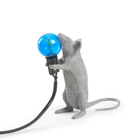 Mouse Lamp // Gray // Standing
