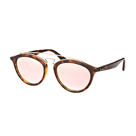 Unisex Oval Double Bridged Sunglasses // Tortoise + Copper