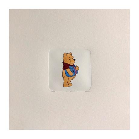 Winnie The Pooh // Honey // Hand Painted Sowa & Reiser Etching #D/500