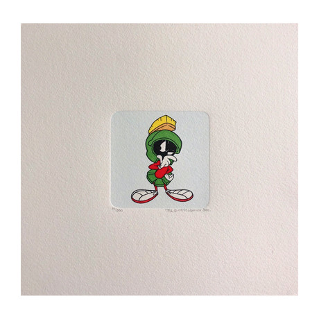 Marvin The Martian Hand Painted Sowa & Reiser Etching #D/500