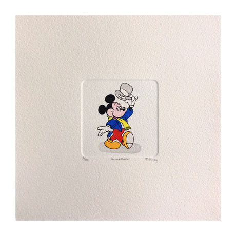 Mickey Mouse // Top Hat // Hand Painted Sowa & Reiser Etching #D/500