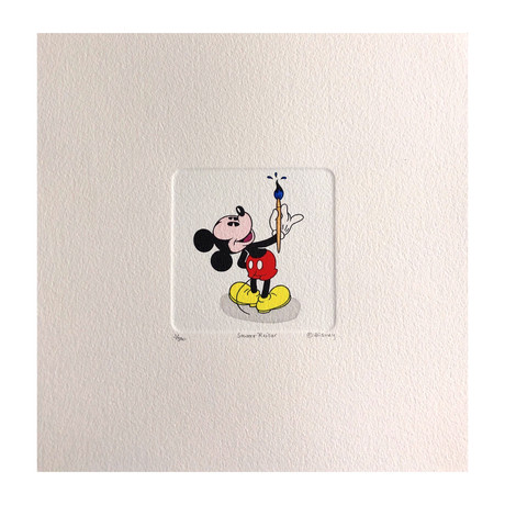 Mickey Mouse // Painter // Hand Painted Sowa & Reiser Etching #D/500