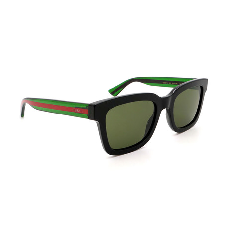 Men's GG0001S-002 Square Sunglasses // Shiny Black