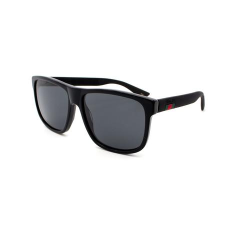 Men's GG0010S-001 Rectangular Sunglasses // Black