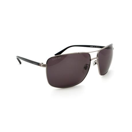 Men's GG0065SK-001 Pilot Sunglasses // Ruthenium