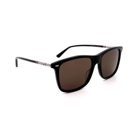 Men's GG0518S-001 Square Sunglasses // Black + Brown