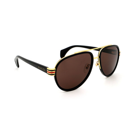 Men's GG0447S-003 Pilot Sunglasses // Black