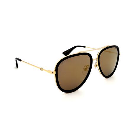 Unisex GG0062S-001 Pilot Sunglasses // Gold