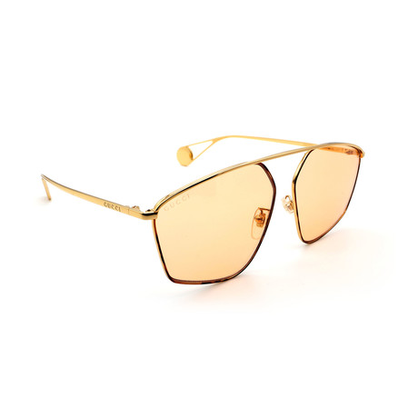 Unisex GG0437SA-003 Limited Edition Sunglasses // Gold + Pink