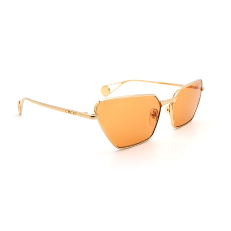 Unisex GG0538S-004 Cat Eye Sunglasses // Gold + Orange