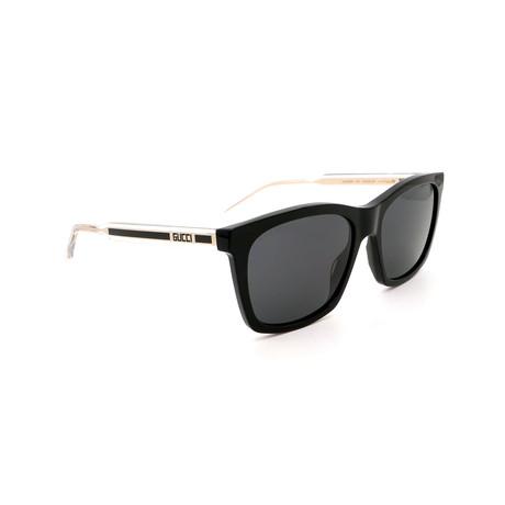 Men's GG0558S-001 Square Sunglasses // Black + Gray