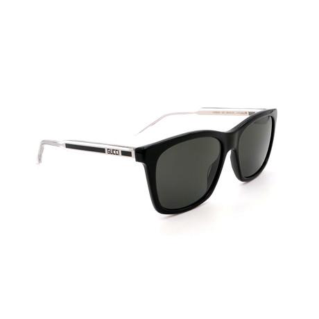 Men's GG0558S-002 Square Polarized Sunglasses // Black + Gray