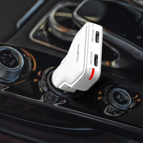 30W Dual USB-C Car Charger (Black)