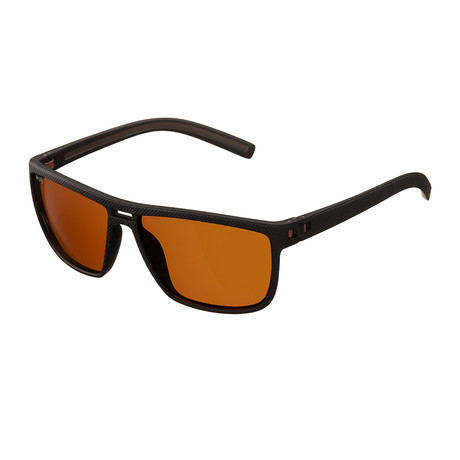 Barrett Polarized Sunglasses (Black Frame + Brown Lens)