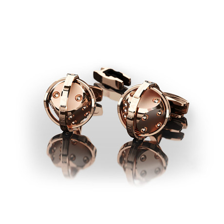 Dices Cufflinks // Rose Gold