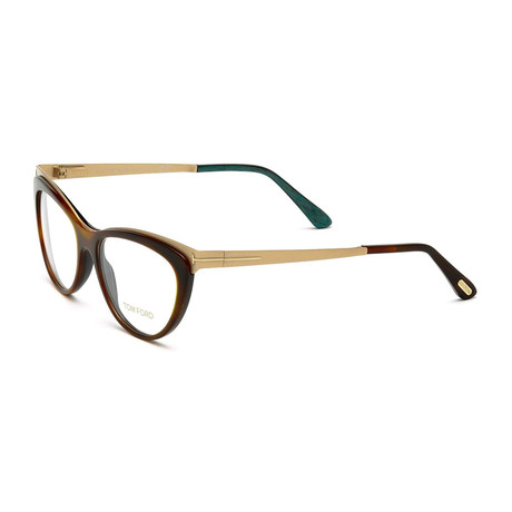 Women's Metal Optical Frames // Havana + Gold