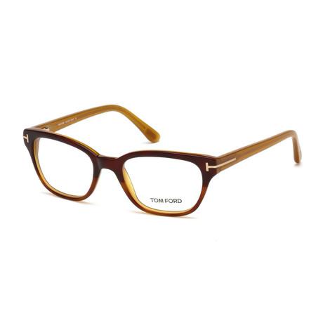 Women's Acetate Optical Frames // Dark Brown + Blonde Havana