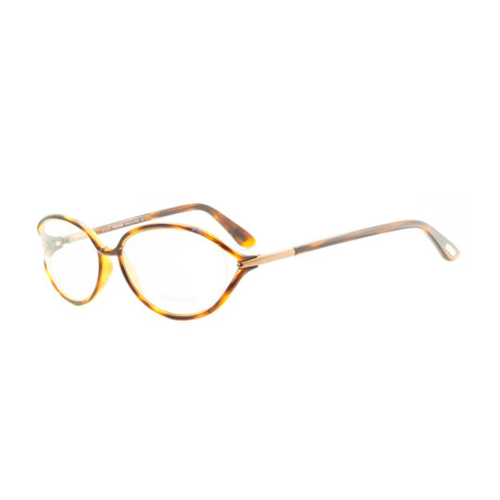 Women's Striped Plastic Optical Frames // Gray Havana
