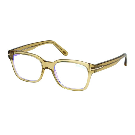 Tom Ford // Unisex Thick Wayfarer Blue Light Blocking Glasses // Transparent Beige