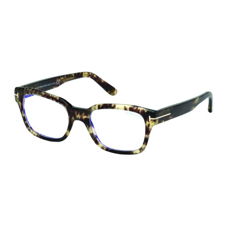 Tom Ford // Unisex Thick Wayfarer Blue Light Blocking Glasses // Havana