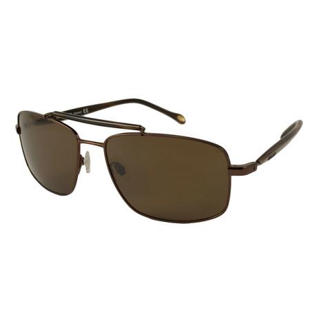 Fossil // Men's Polarized Barry Sunglasses // Bronze + Brown