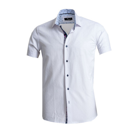 Short Sleeve Button Down Shirt II // White (S)