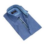 Short Sleeve Button Down Shirt // Denim Blue (S)