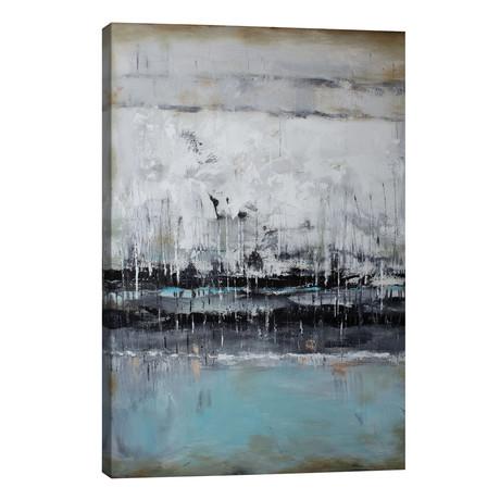 "Abstract Seascape XII // Radiana Christova (26""W x 40""H x 1.5""D)"