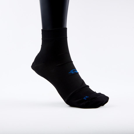 PF1 Memory Foam Padded Performance Compression Socks // Black (XSmall)