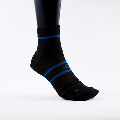 PF1 Memory Foam Padded Performance Compression Socks // Black Stripe (XSmall)