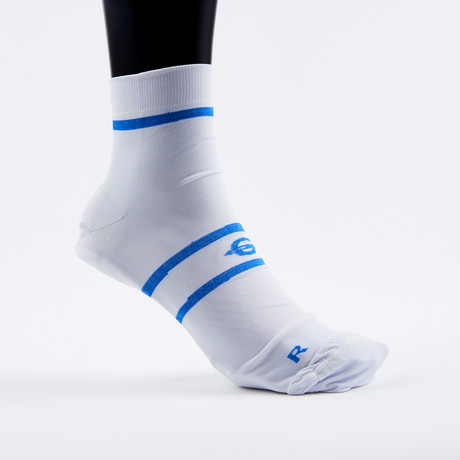 PF1 Memory Foam Padded Performance Compression Socks // White Stripe (XSmall)