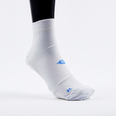 PF1 Memory Foam Padded Performance Compression Socks // White (XSmall)