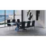 Artiste Extension Dining Table (Gray Oak + Black)
